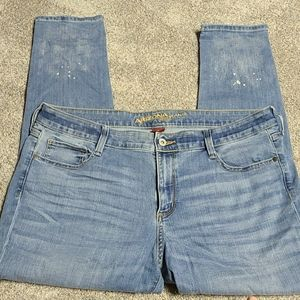 Arizona jeans 17 Juniors with bottom distressing